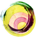 Abstract acrylic and watercolor painted background. Abstract circle acrylic and watercolor painted background Stock Images