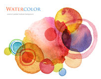Abstract acrylic and watercolor painted background. Abstract circle acrylic and watercolor painted background Royalty Free Stock Photos