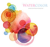 Abstract acrylic and watercolor painted background. Abstract circle acrylic and watercolor painted background Royalty Free Stock Images