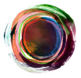 Abstract acrylic and watercolor painted background. Abstract circle acrylic and watercolor painted background Royalty Free Stock Photo