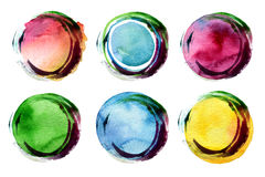 Abstract acrylic and watercolor painted background. Stock Image