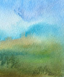 Abstract acrylic and watercolor painted background. Royalty Free Stock Photography