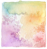 Abstract acrylic and watercolor painted frame. Royalty Free Stock Images