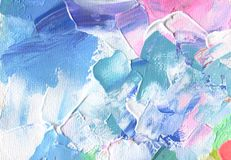 Abstract acrylic and watercolor painting. Canvas texture backgro Stock Photography