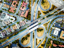 Abstract aerial photo of the highway intersection Stock Images