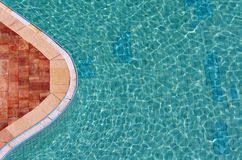 Abstract aerial view of a swimming pool Stock Photos
