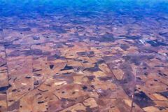 Abstract Western Australian landscape, Oil Painting Style stock image