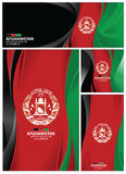 Abstract Afghanistan Flag Background. Afghanistan flag abstract colors background. Collection banner design. brochure vector illustration royalty free illustration