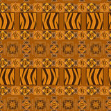 Abstract African background. With tiger skin Stock Illustration