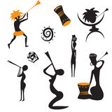Abstract african native people. Abstract black african native people royalty free illustration
