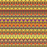 Abstract African Native Seamless Pattern. Yellow Purple Background Stock Photos