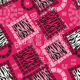 Abstract african style seamless with wild animal skin pattern Royalty Free Stock Photography