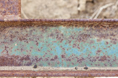 Abstract Aged Iron Beam Background Royalty Free Stock Images