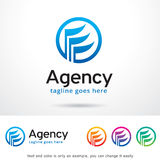 Abstract Agency Logo Template Design Vector. This design suitable for logo or icon. Color and text can be changed easily royalty free illustration