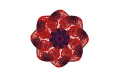 Abstract agressief fractal rood zwart cijfer Royalty-vrije Stock Foto