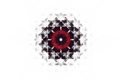Abstract agressief fractal rood zwart cijfer Royalty-vrije Stock Afbeeldingen