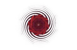 Abstract agressief fractal rood zwart cijfer Stock Foto's