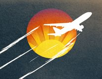 Abstract airplane sketch Royalty Free Stock Images