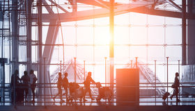 Abstract airport Royalty Free Stock Photography