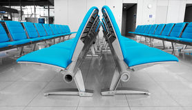 Abstract airport seats Royalty Free Stock Photography