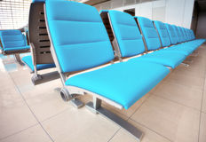 Abstract airport seats Royalty Free Stock Photos