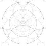 Abstract alchemistisch thema Fractal kunstachtergrond Heilige Meetkunde Geheimzinnig ontspanningspatroon Digitaal Kunstwerk stock illustratie