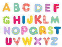 Abstract alfabet Royalty-vrije Stock Foto's