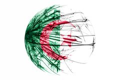 Abstract Algeria sparkling flag, Christmas ball concept isolated on white background. Abstract Algeria sparkling flag, Christmas ball concept isolated on white royalty free illustration