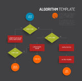 Abstract algorithm  template. With flat design - dark version Royalty Free Stock Images