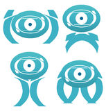Abstract alien characters illustration Stock Photography