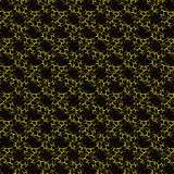 Abstract Alien Pattern Background. In yellow and black tones Royalty Free Stock Photography