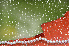 Abstract alienated background. With white beautiful pearls Stock Image