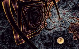 Abstract Alienated Realm 2 fractal art stock illustration
