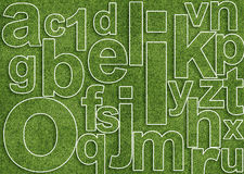 Abstract alphabet. Image with letter mix from grass Stock Photos