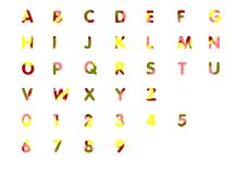 Abstract alphabet Royalty Free Stock Photography