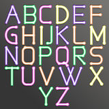 Abstract alphabet colorful. Vector abstract alphabet. Vector of stylized colorful font and alphabet. Vector Alphabet colorfull style. Vector font isolated Stock Image