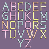 Abstract alphabet colorful. Vector abstract alphabet. Vector of stylized colorful font and alphabet. Vector Alphabet colorfull style. Vector font isolated Royalty Free Stock Photography