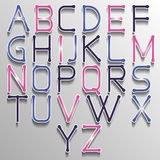Abstract alphabet colorful. Vector abstract alphabet. Vector of stylized colorful font and alphabet. Vector Alphabet colorfull style. Vector font . Vector Type Royalty Free Stock Photo