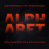 Abstract alphabet font. Type letters and numbers. Abstract alphabet font. Type letters and numbers on a dark polygonal background. Vector typeface for your Stock Image