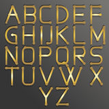 Abstract alphabet gold. Vector abstract alphabet. Vector of stylized gold font and alphabet. Vector Alphabet gold style. Vector font . Vector Type Royalty Free Stock Photography