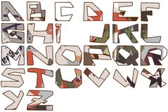 Abstract alphabet Stock Image