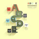 Abstract alphabet infographics. Flat style vector abstract alphabet infographic elements Stock Photo