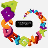 Abstract alphabet letters. Colorful 3d alphabet letters vector background Stock Photo
