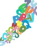 Abstract alphabet. Royalty Free Stock Photos