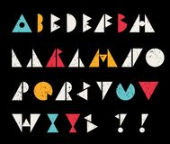 Abstract alphabet letters in retro style. Cool vector illustration Stock Images