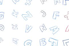 Abstract alphabets letters. Concept, pattern, wallpaper & drawing. Abstract alphabets letters. Good for web page, wallpaper, graphic design, catalog, texture or royalty free illustration