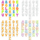 Abstract alphabets. Set of abstract alphabets for design Royalty Free Stock Image