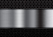 Abstract aluminium background on dot background Royalty Free Stock Photos
