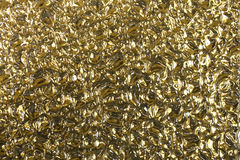 Abstract aluminium gold texture background for interiors wallpaper deluxe design. Royalty Free Stock Images