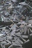 Abstract aluminiumschroot Royalty-vrije Stock Afbeelding